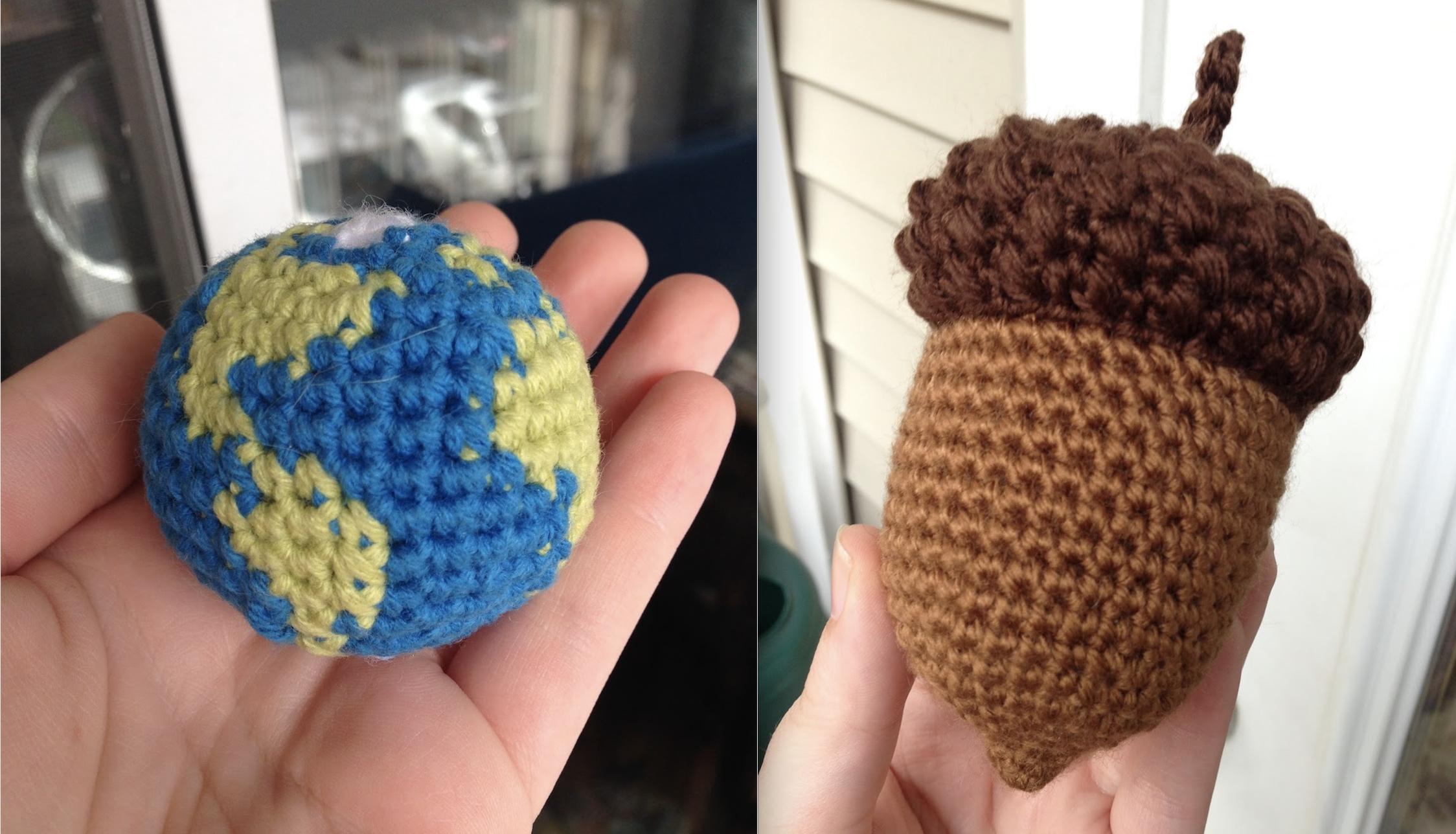 globe and acorn
