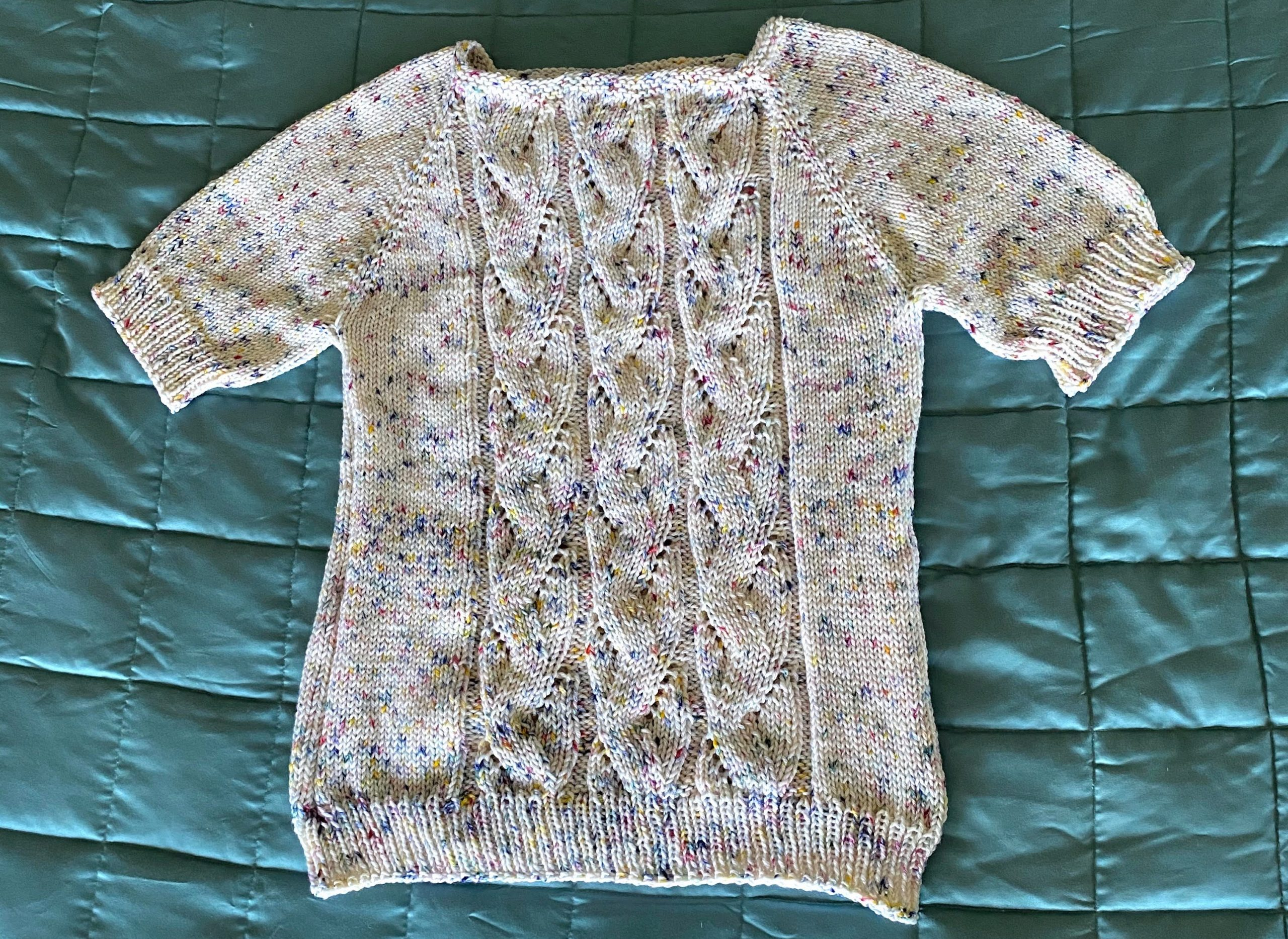 Completed Springtime Flax Sweater